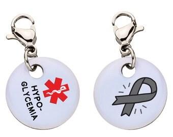 Hypoglycemia Medic Alert Bracelet Charm,Medical ID,Medic Alert, Large, 104