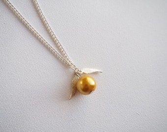 SALE** Golden snitch necklace