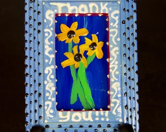 Thank You (miniature painting and stand)