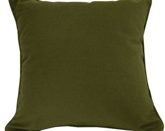 Army Green Wool Pillow cover 22 x 22