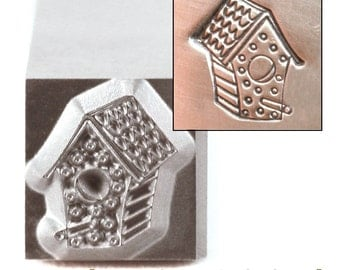 Bird House Metal Design Stamp 7mm x 8.5mm - Metal Stamping / Punch Tools for Metal Stamped DIY Jewelry, Jewelry Making Tools (DS247)