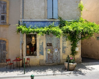 Shop in Lourmarin, Provence, France Photography, Rural France, Provence Photography, Summer in Provence, Fine Art Print