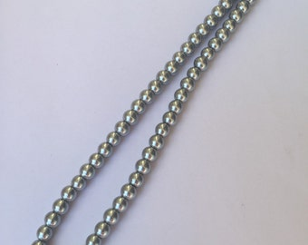 Gray Simulated Pearl Necklace Reduced