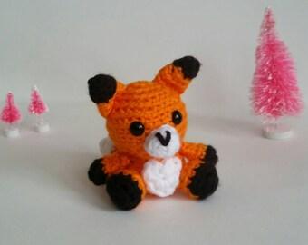 Fox Amigurumi Mini Crochet Stuffed Animal Plush Toy