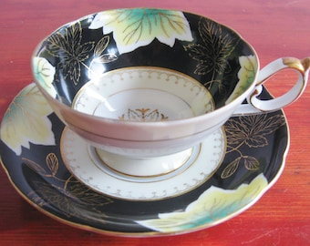Vintage Shafford Tea Cup And Saucer FRom Japan Hand Decorated