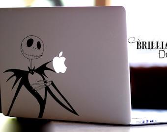 Jack Skellington, Jack Skellington Decal, Jack Skellington Sticker, Nightmare Before Christmas Decal, MacBook Pro, Gift, geekery
