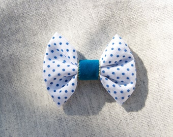 Polka Dot Teal Bow