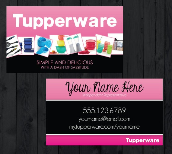Tupperware business cards digital download by mycrazydesigns for Tupperware business card templates
