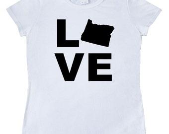 Love Oregon Women's T-Shirt by Inktastic