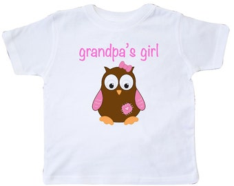 grandpa's girl - owl Toddler T-Shirt by Inktastic