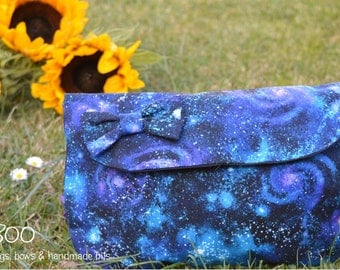 Universe Clutch, Make-Up Pouch & Bow Set