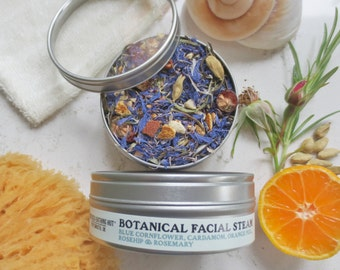 Botanical Steam - Refresh, Tone, Uplift - Facial Steam, Herbal Steam, Cleansing, Purifying, Rejuvenating Skin