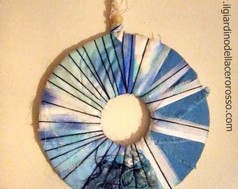Silk necklace, handpainted silk, gift for her