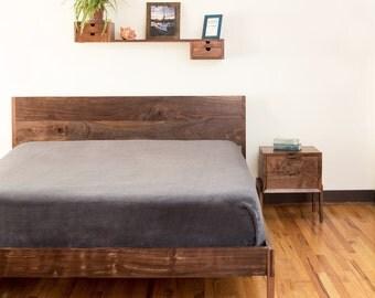 Mid Century Modern Bed platform storage bed
