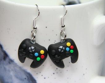 xbox 1 one controller earrings gamer jewellery nerd earrings girl gamer stocking stuffer gift for her  girl teenager earrings under 10