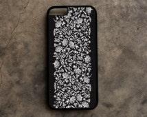 Black floral ornament iphone 5 case, iPhone 6 case, phone case iphone 6, phone case iphone 5SE,  case for iphone 5