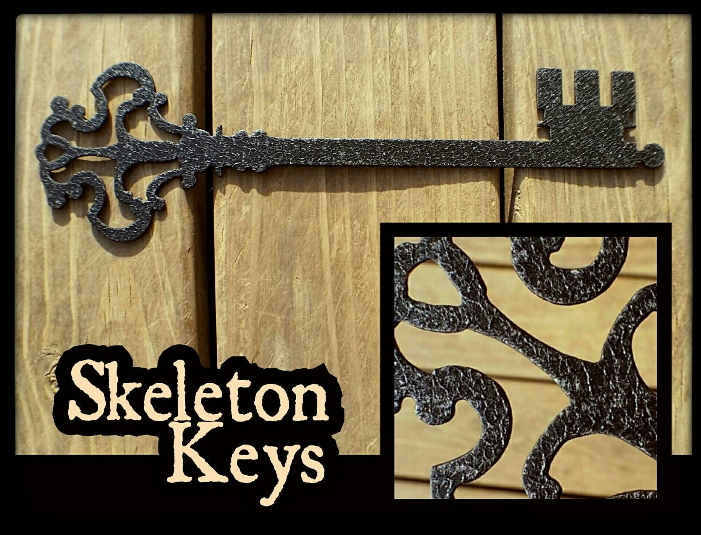 Skeleton key metal wall art antique key decor by for Keys decorating walls