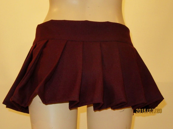 burgundy pleated mini skirtsmall to plus size skirt by