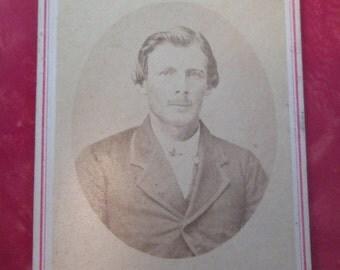 Antique Civil War Era CDV Photograph with Red Border
