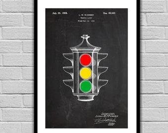 Colored Traffic Light Patent, Traffic Light Poster, Traffic Light Blueprint,  Traffic Light Print, Traffic Light Art, Traffic Light Decor
