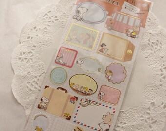 peanuts - Japanese cute sticker sheet - snoopy label sticker