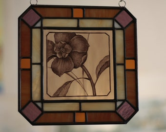 Stained glass, drawing - handmade.