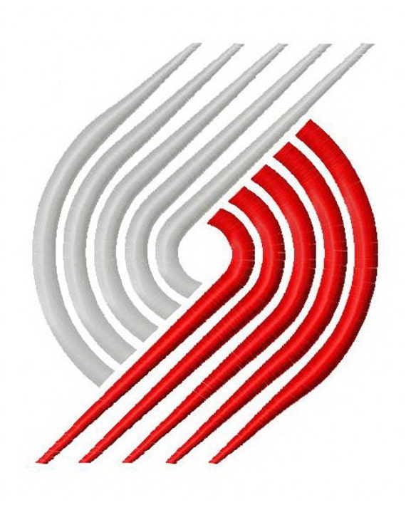 Portland Trail Blazers Basketball: Portland Trail Blazers Logo Basketball By EmbrioderyDezigns
