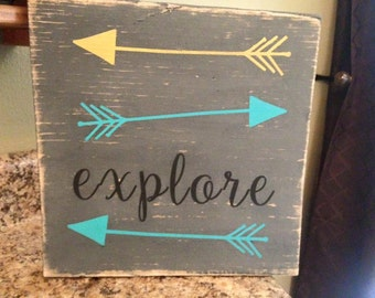 Explore Wood Sign - Nursery Decor