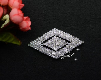 5 Wedding Costume Dress Applique Crystal Rhinestine Sewing On(A280) Wholesale