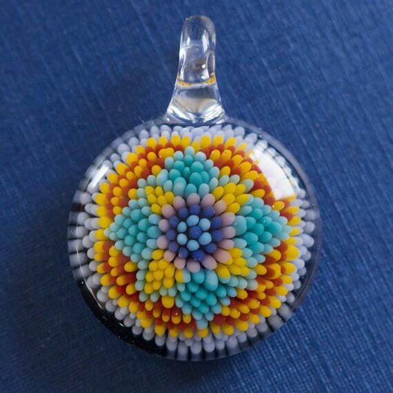 Dot Mandala Glass Implosion Pendant