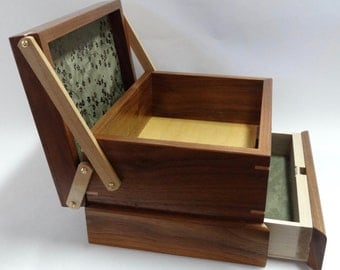 Jewelry / Keepsake Box with Spring Open Drawer - #7 of 12