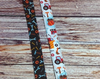 Pacifier Clips for your Binky Construction Trucks and Tools