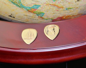14k gold metal guitar pick