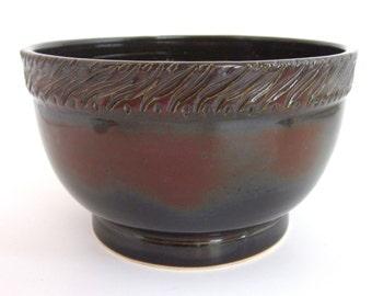 Unique Bowl, Unique Ceramic Bowl, Unique Cereal Bowl, Unique Rice Bowl, Unique Soup Bowl, Handmade Ceramic Bowl, Red Bowl, Handmade Pottery