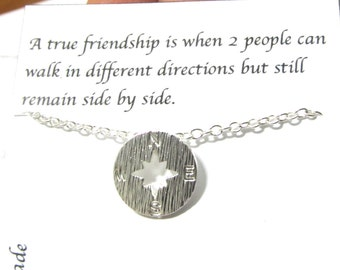 Best Friend Gift Compass Necklace/A1/Friendship gift/Compass necklace/best friend necklace/best friend gift/gift for friend/birthday gift