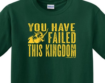 Funny Green ARROW LINK Failed This Kingdom T Shirt Triforce Legand of Zelda  Gamer Video Game Princess reaper TV Show Free Shipping