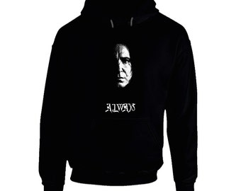 Snape, Always - Black Hoodie - hogwarts, movie, fantasy, wizard, witches, slytherin, potter, rickman