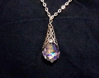 Crystal filigree pendant