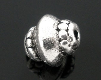 40Pcs Gift Silver Tone Ornate Spacer Beads 5*7mm
