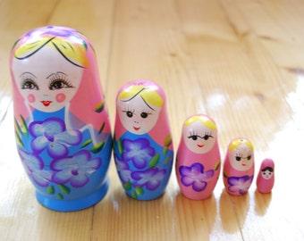 Nesting dolls, Vintage Russian Matryoshka doll, baby toy