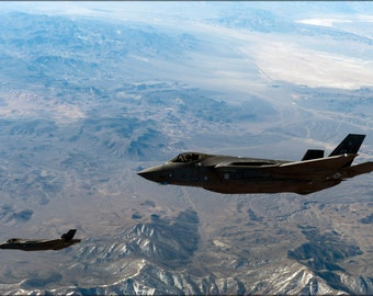 24x36 Poster . F-35 Lightning Ii, 31St Test And Evaluation Squadron