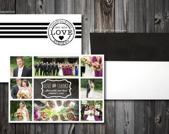 Photo Wedding Thank You Cards (100)