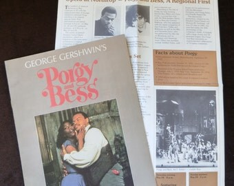 Porgy and Bess | Theater Program | George Gershwin | Musical Play | Northrop Auditorium | Minneapolis, Minnesota | Minnesota Orchestra
