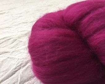 Bright Pink - 50g Merino Wool Roving