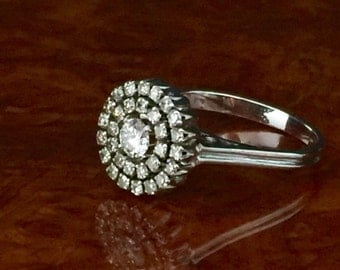 Ring in white gold 18kt and natural diamonds various cuts