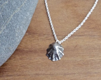 Silver Limpet necklace, shell necklace, cornish shell, cornish jewellery