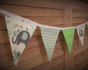 Bunting Flags - Elephant & Green - F1008 - NOW 20% OFF