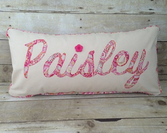 Personalized Name Pillow, Baby Name Pillow,Girl's Room Pillow, Baby Gift