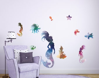 Perfect Mermaid Wall Decals // Kids Mermaid Wall Stickers // Sea Castle Wall  Decoration   Part 8