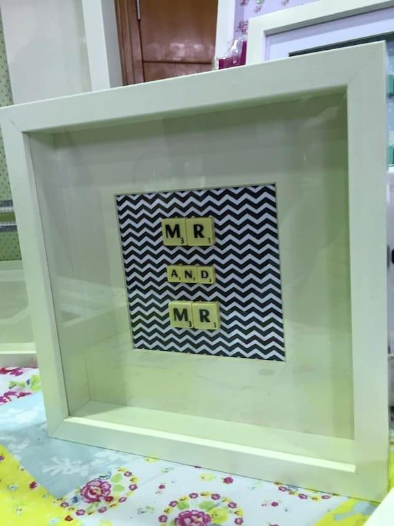 Mr & Mr Scrabble Art Frame